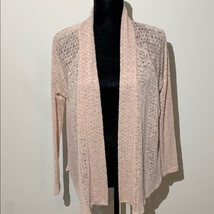 Pins & needles Anthropologie pale pink open knit